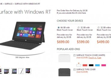 Microsoft Surface RT Price in US