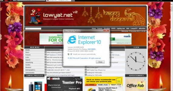 Microsoft Internet Explorer 10 for Windows 7