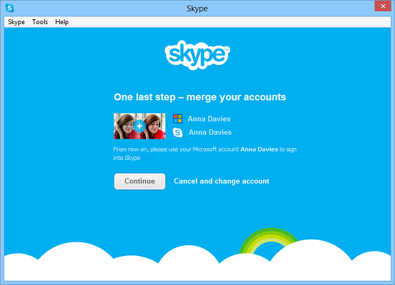 Messenger and Skype as One