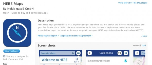 Nokia Here for iOS
