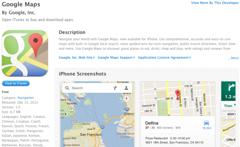 At Long Last, Google Maps App for iPhone is Here | Lowyat NET