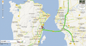 Google Maps Live Traffic Penang