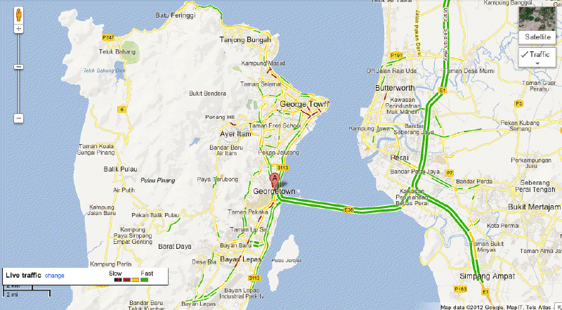 Live Traffic On Google Maps Now Available In Ipoh Melaka And