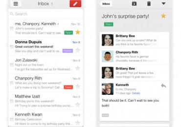 New Gmail Interface iOS