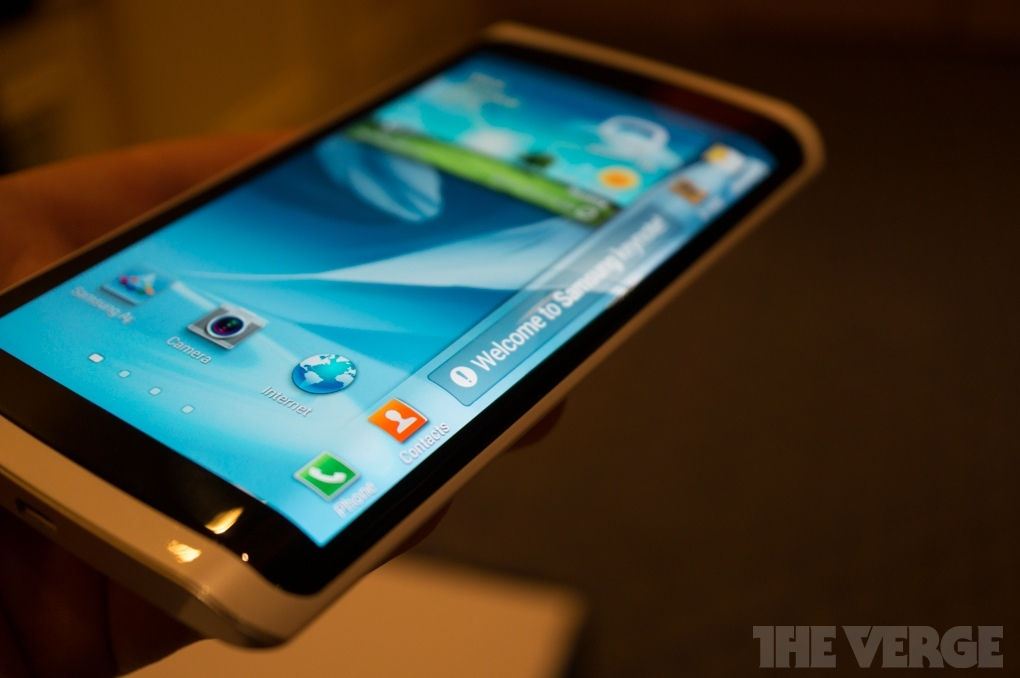 Samsung CES 2013 Curved OLED Phone Front