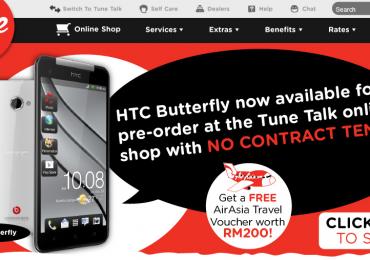 TuneTalk HTC Butterfly