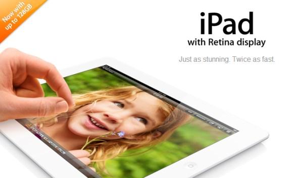 4th Gen iPad with 128GB storage
