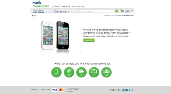 Maxis Online Store