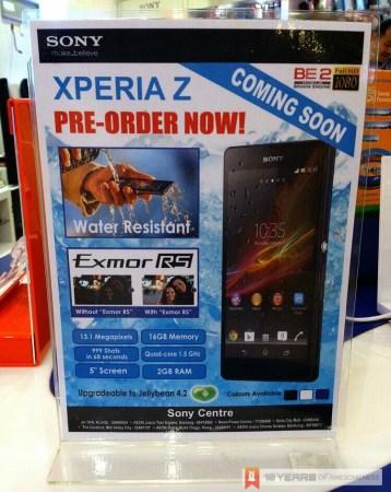 Sony Xperia Z Pre-Order