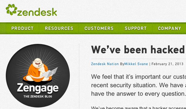 Zendesk Hacked