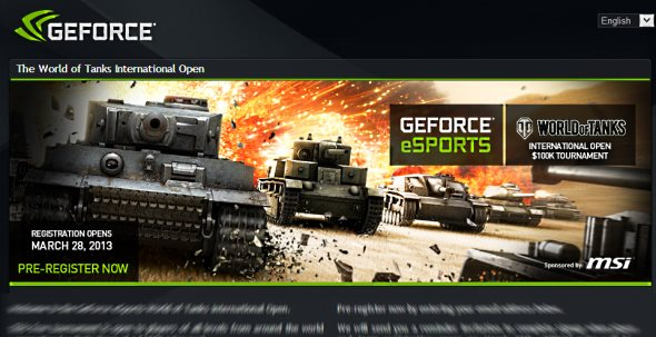 GeForce eSports World of Tanks Open Tournament