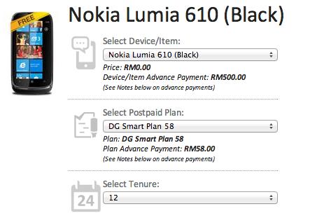 DiGi Lumia 610 Free