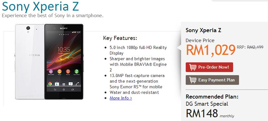 DiGi Sony Xperia Z