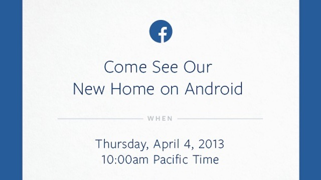 Facebook Event 4 April 2013