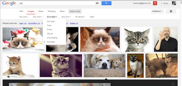 Google Image Animated GIF Filter