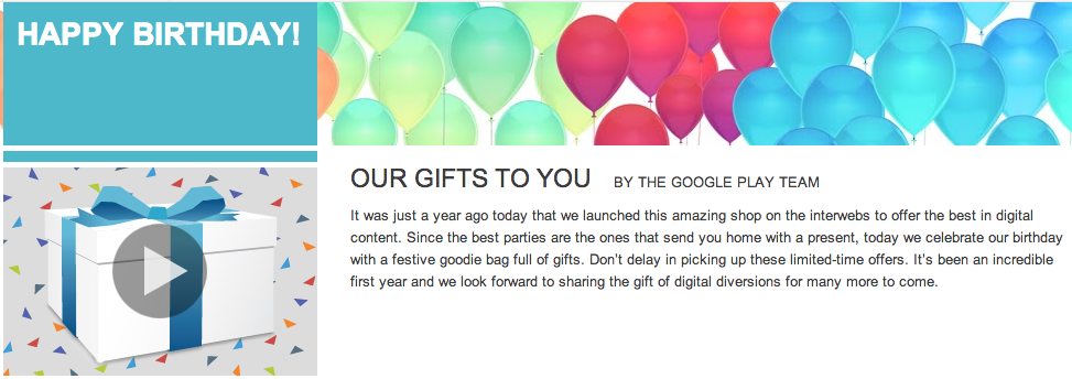 Happy 1st Birthday Google Play