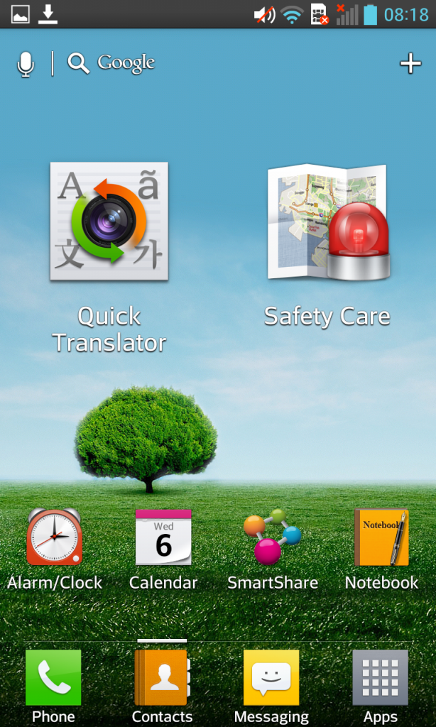 LG Optimus G Quick Translate and Safety Care