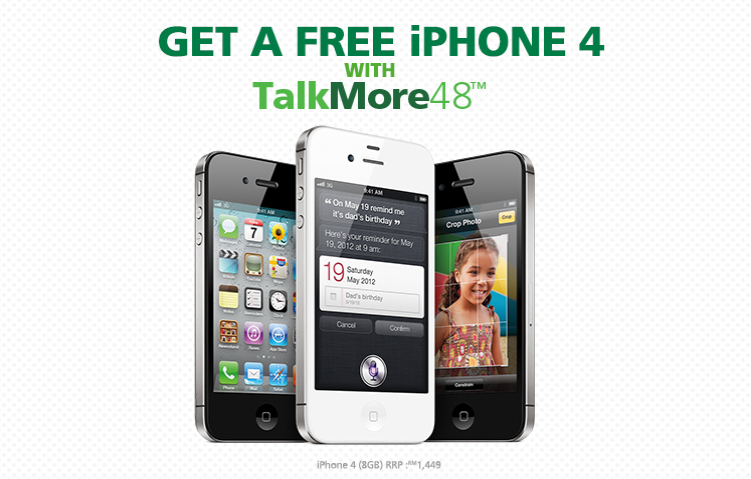 Maxis TalkMore48 Free iPhone