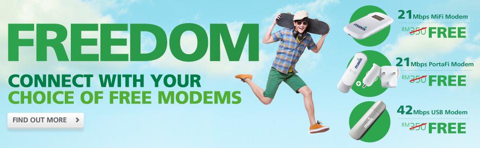 Maxis Wireless Broadband Free Modem