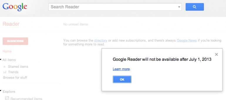 No More Google Reader