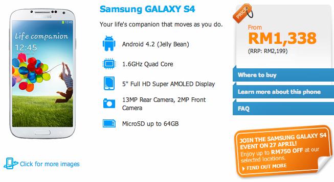 Celcom Galaxy S4