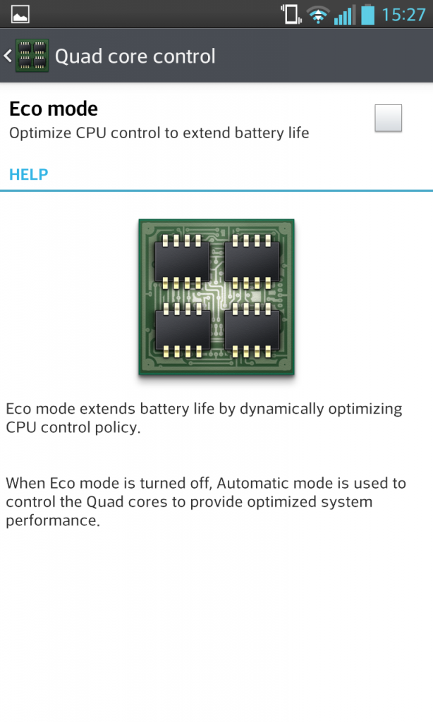 Eco Mode Quad Core Control
