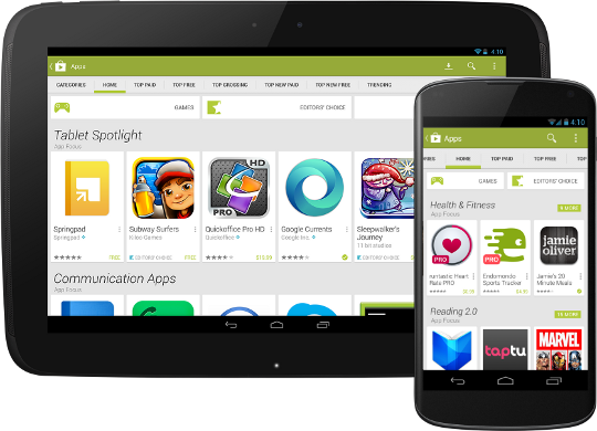Google PlayStore Redesign