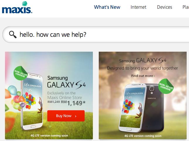 Maxis Samsung Galaxy S4