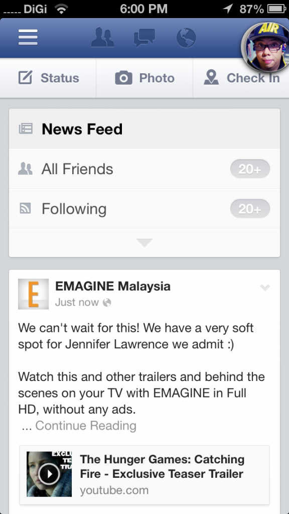New FB App News Feed 2