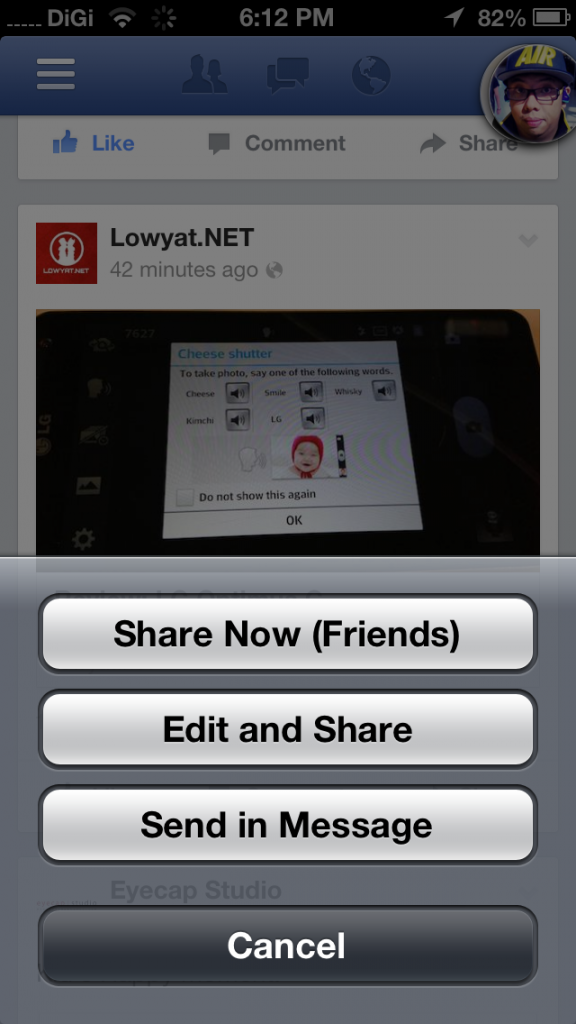New FB App Share 2