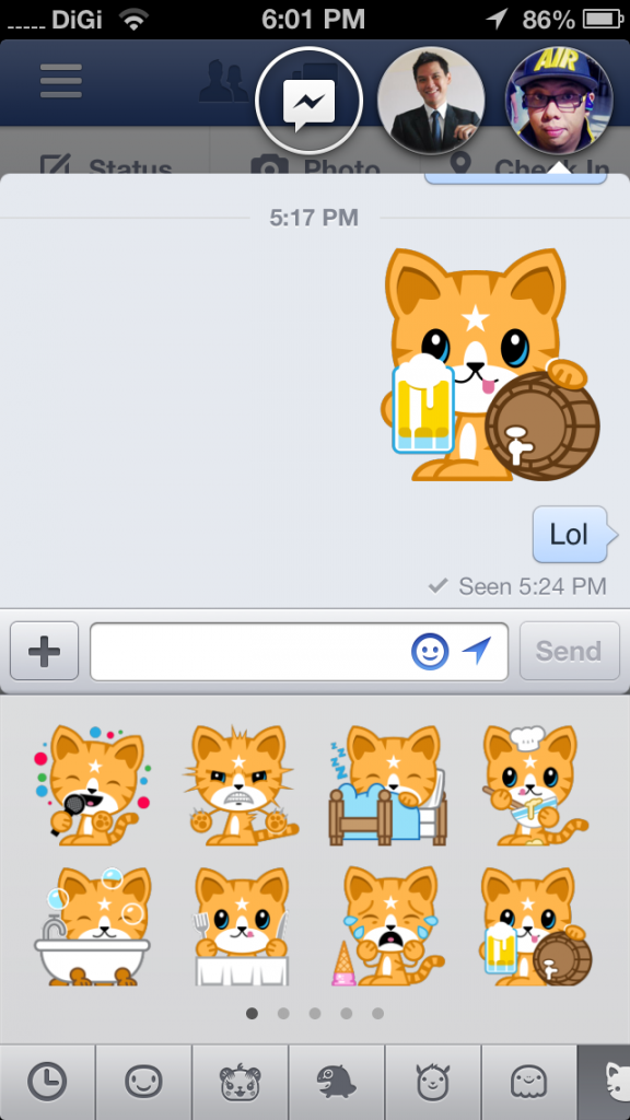 New FB App Stickers