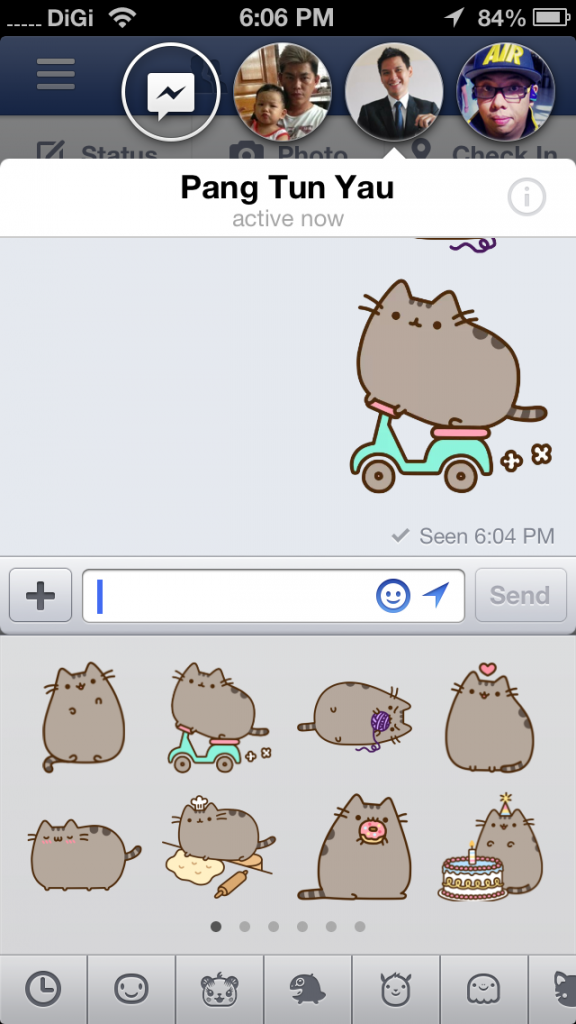 New FB App Stickers Animated