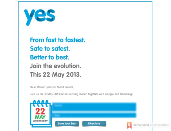 Yes 4G, Google and Samsung Launch Event