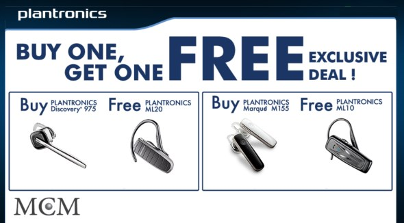 MCM Distribution - Plantronics BT Promo
