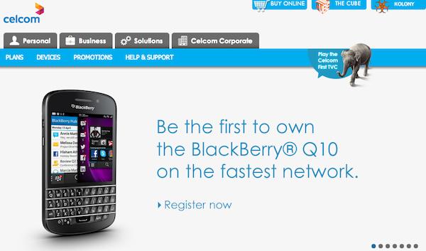 Celcom BlackBerry Q10 ROI