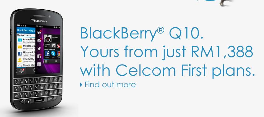 Celcom BlackBerry Q10