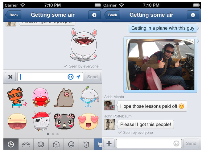 FB Messenger iOS Sticker
