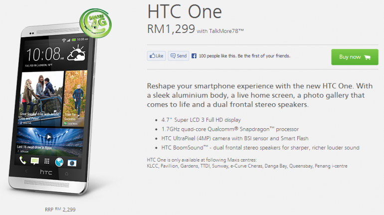 Maxis HTC One