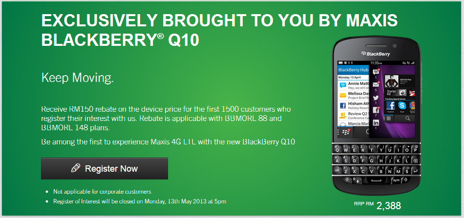 Maxis Q10 ROI