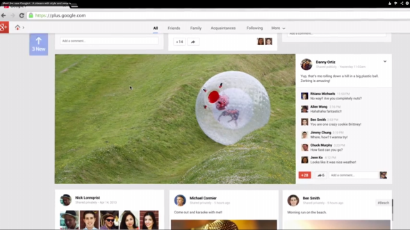 New Google+ Stream