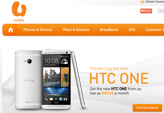 U Mobile HTC One