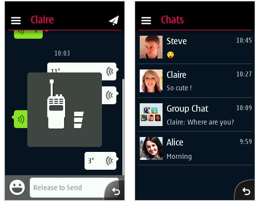 WeChat Nokia Asha