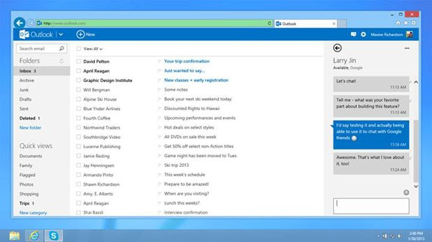 outlook.comgoogletalk