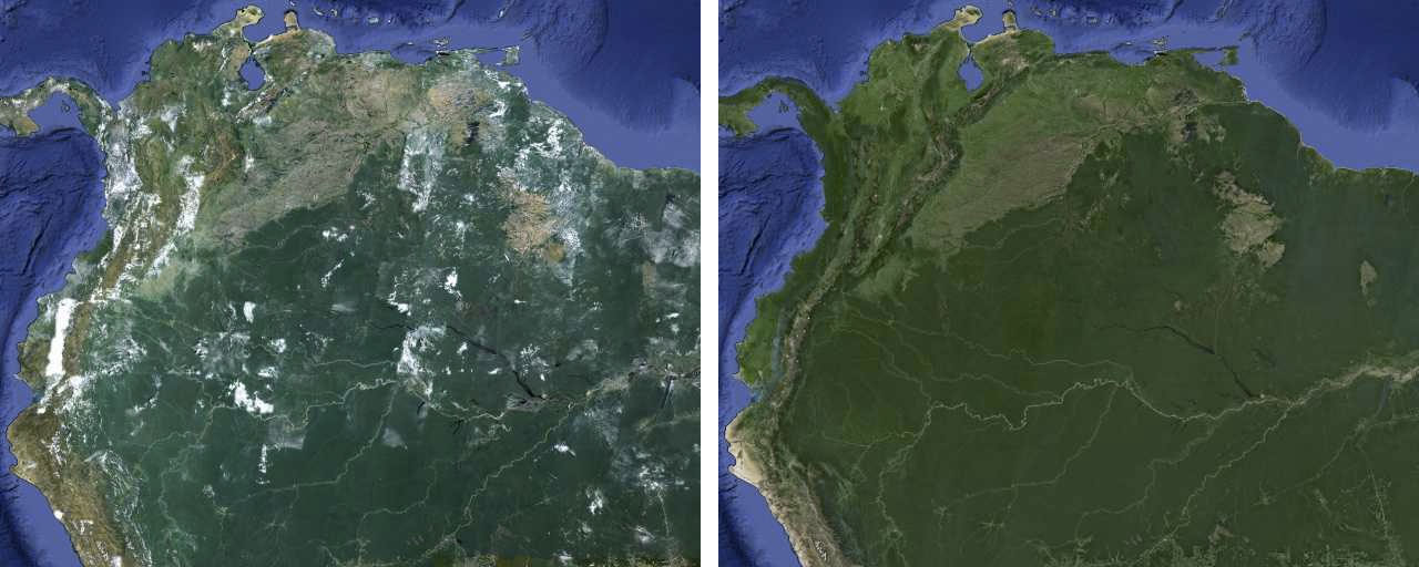 New Google Maps Before and After