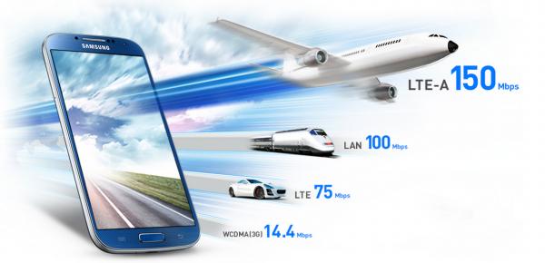 S4 LTE-A Speed