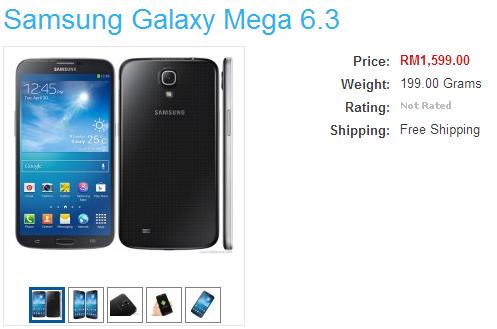 Samsung Galaxy Mega 6.3 Malaysia IMCC
