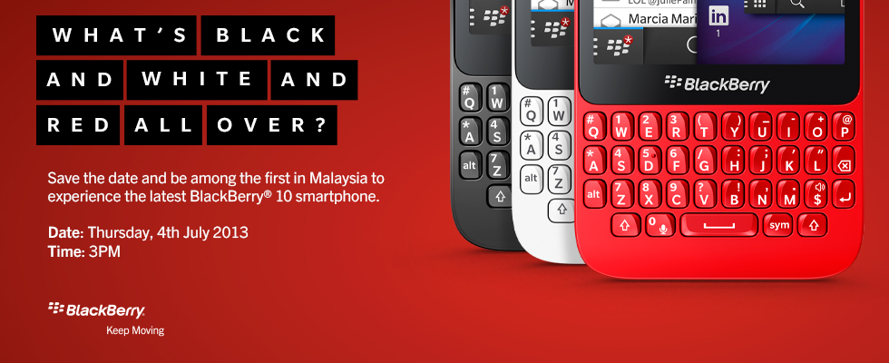 Save The Date - BlackBerry Malaysia (4 July, 3pm)