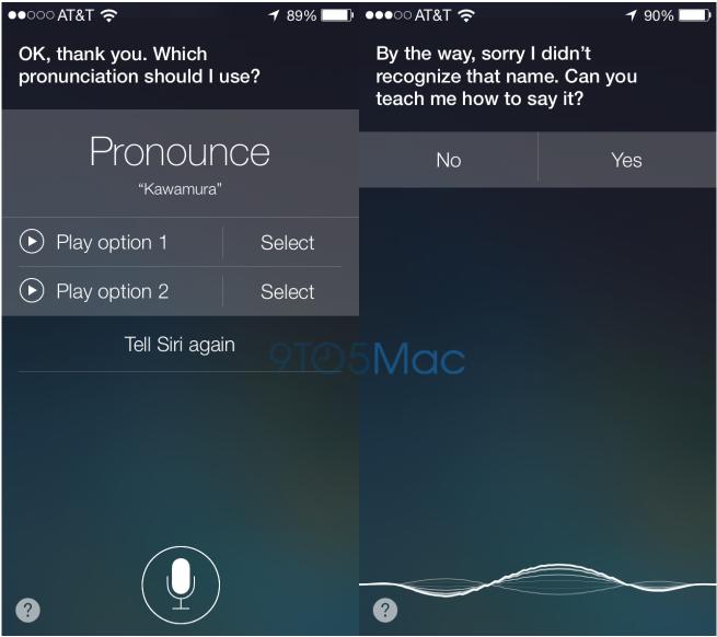 Siri Learns Name
