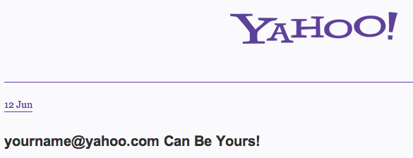 Yahoo Frees up ID
