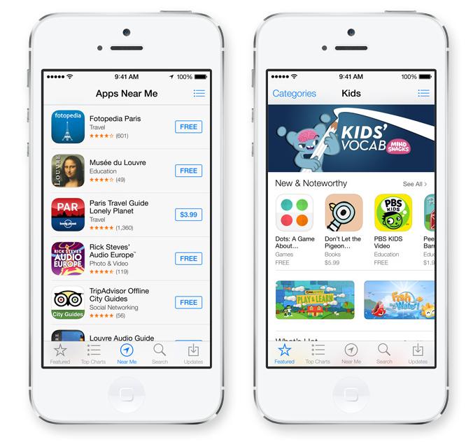 iOS 7 App Store